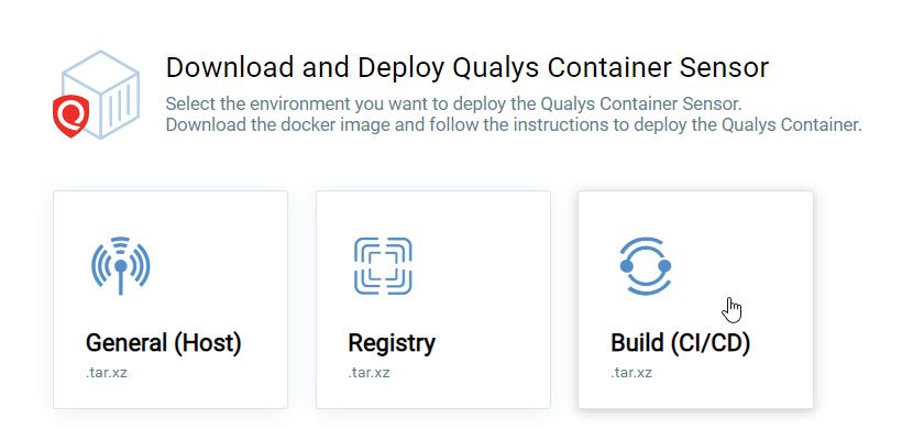Download deploy Qualys Container Sensor